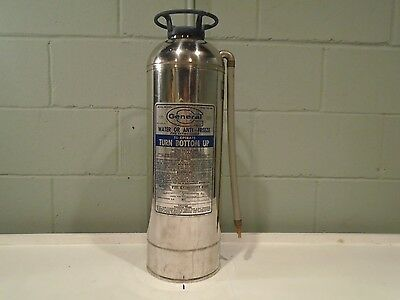 General Fire Extinguisher Vintage 1960s Water Can #IW-500b Fire Truck/Engine