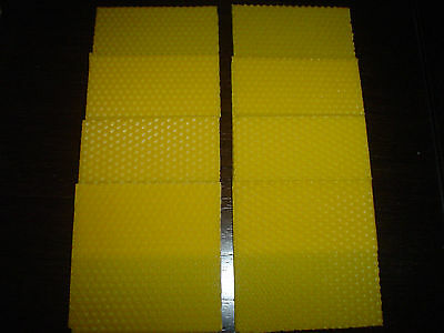 candle beeswax sheets 3.9in x 3.9in for home decorations,gifts-eight pcs