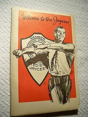 Vintage Jaycees Welcome Packet Pin Sticker Application 1969 7 Pieces