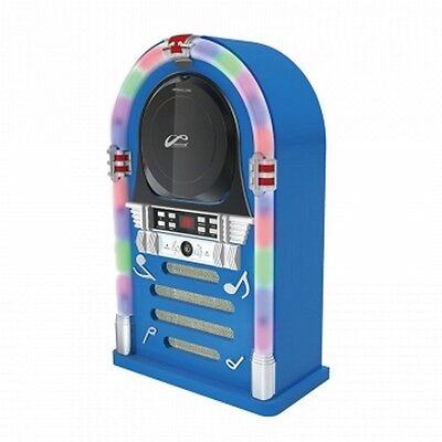 Bluetooth/CD Jukebox with LED Neon Lights - Blue