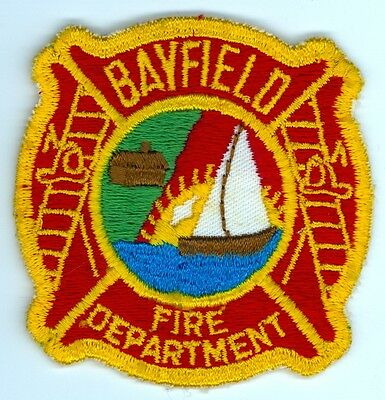 Vintage Bayfield Fire Department Uniform Patch Ontario ON Canada