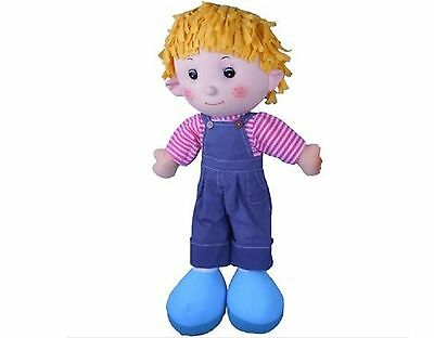 Charlie 60cm Large Rag Cloth Childs Doll Toy by Merrigold Collections - IN STOCK