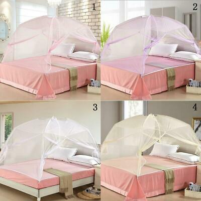 Folding Canopy Mosquito Mesh Travel Camping Net For Single Queen King All Bed