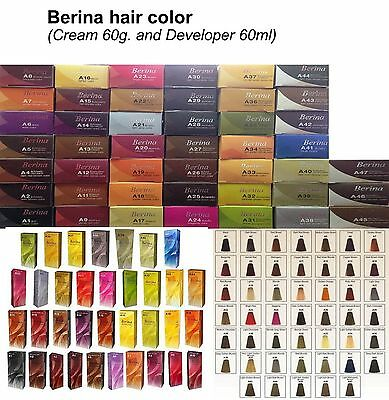 Berina A1-A47 Permanent Hair Colors Cream Hair Style Dye Professional Use