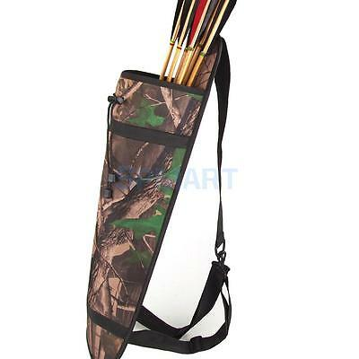 Camo Archery Hunting 3 Point Harness Back Arrow Quiver Bow Belt Bag Holder