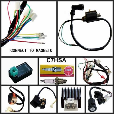 Motorcycle ELectrics Wiring Harness Loom Solenoid Coil 125cc ATV Quad bike TDRMO