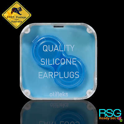 Otifleks Silicone Ear Plugs Reusable Anti Allergenic Anti Noise High Comfort 4Pk