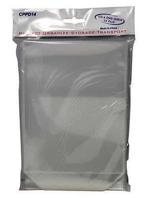 250x Clear DVD Plastic Sleeves High Quality Fit Movie Covers w/ Flap