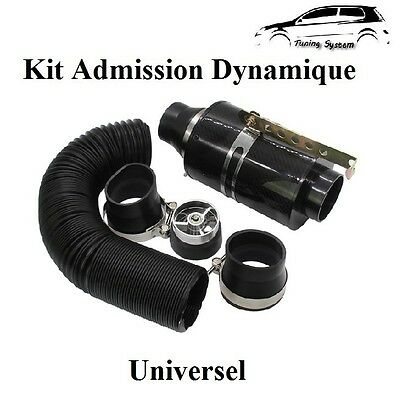 Kit Admission Direct Carbone + Turbine Turbo + Raccord Filtre a Air Style BMC,KN