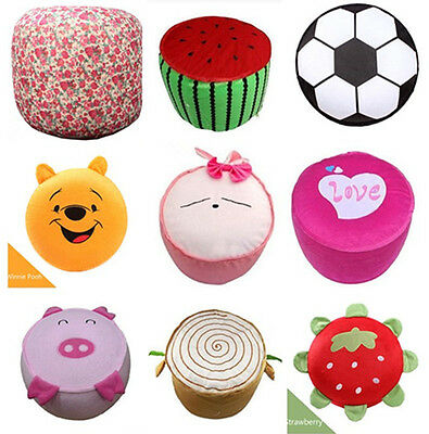 Inflatable Children Plush Air Filled Cushion Stool Seat Chair Foot Rest Gift Toy