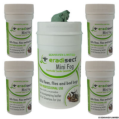 5 x Insecticide Smoke Bomb Insect Pest Control Flea Bug Bedbug Cockroach Spider