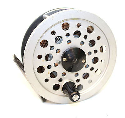 J W Young Beaulite trout fly fishing alloy reel & line