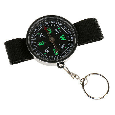 Outdoor Hiking Camping Compass Wrist Military Survival Tool Watch Style