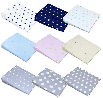 PILLOW COVER FOR WEDGE PILLOW BABY CRIB CRADLE PILLOWCASE SIZE 30x37cm
