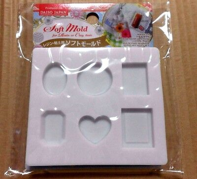 DAISO JAPAN Basic Soft Mold For UV Resin or Clay Hand Craft Tool