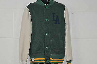 Girls Or Boys Green Mix Varsity Style Jacket From Next UK Age 6 Years