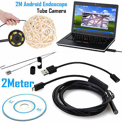 Endoscope Camera 5.5MM 6 LED Android Borescope Waterproof Inspection Video Cam