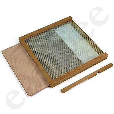 Open Mesh Floor National Bee Hive Cedar Base Varroa Inspection Tray Easipet 317