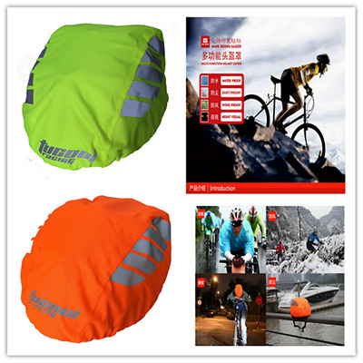 Night Visual High Visibility Waterproof Bike Bicycle Helmet Cover Rain Cover