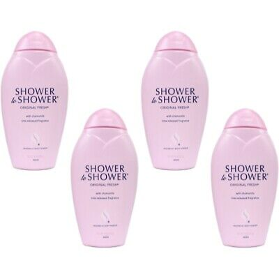 4 Pack - SHOWER TO SHOWER Body Powder Original Fresh 8 oz Each