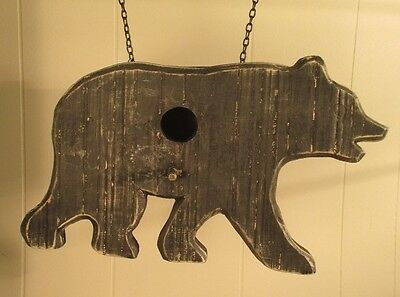 """BLACK BEAR  BIRDHOUSE"" Replacement Sign - Wood Sign for Country Arrow Holders"