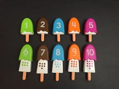 Matching Color Number Ice Cream/Popsicle Preschool Educational Counting Game