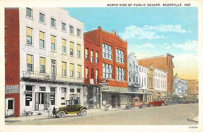Boonville Indiana Public Square North Side Store Fronts Antique Postcard K15774