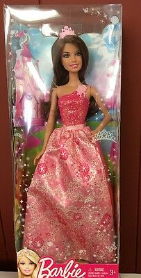 Beautiful Princess Barbie NIB By Mattel With Pink Dress And Crown 2012