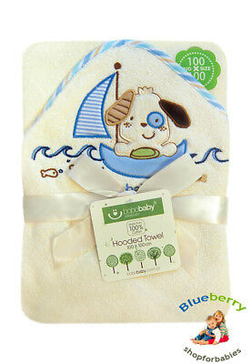 BlueberryShop Embroidered LARGE COTTON HOODED Bath Pool Beach TOWEL Baby Kid