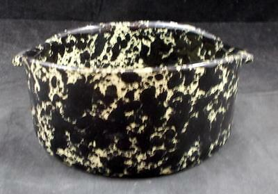 Bennington Pottery AGATE BLACK & TAN Lugged Soup Bowl GREAT CONDITION