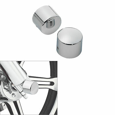 Chrome Front Axle Nut Cover Bolt For Harley Softail Road King Glide FLHT FLHRC