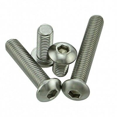 M3 M4 Button Head Socket Cap Screws Allen Bolts Din7380 316 A4 Stainless Steel
