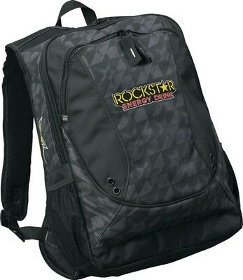 Answer Rockstar Energy Motocross Backpack Daypack School Bag Pack Black