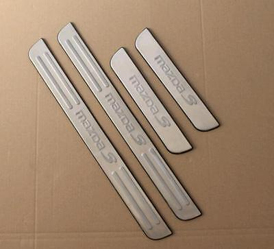 New Stainless Steel Door Sill Scuff Plate Protector for  Mazda 3 2006-2011