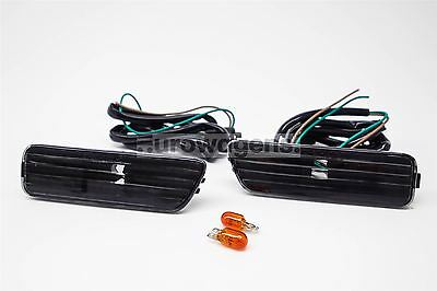 VW Golf MK4 98-04 Crystal Black Side Markers Set Left Right With Wiring and Bulb
