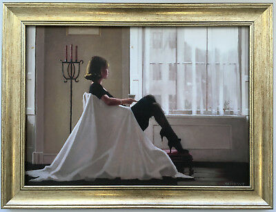 In Thoughts Of You by Jack Vettriano Framed Canvas Effect Print 55cm x 42cm Art