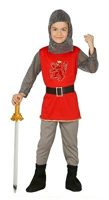 Boys Royal Knight Medieval Historical Book Fancy Dress Costume Outfit 3-12years