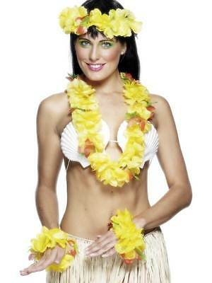 Hawaiian, Hula Set Yellow, Hawaiian, Luau Fancy Dress, Beach Party, Unisex