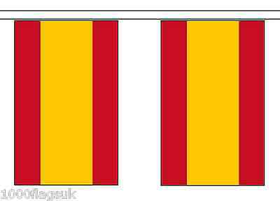 Spain Federal Polyester Flag Bunting - 9m long with 30 Flags