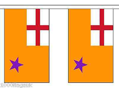 Northern Ireland Orange Order Polyester Flag Bunting - 9m long with 30 Flags