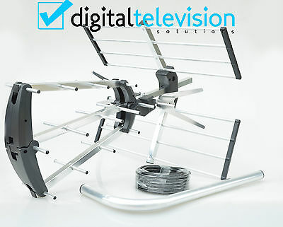 TV Aerial 4G Filter Triple Boom Outdoor Freeview Digital HD Full Install Kit
