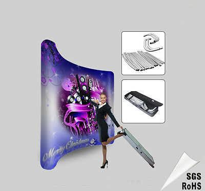 10ft curved portable tension fabric trade show display booth exhibition