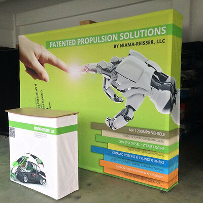 Pop Up 10ft Stand Trade Show Display Dackdrop Wall Booth With Graphic