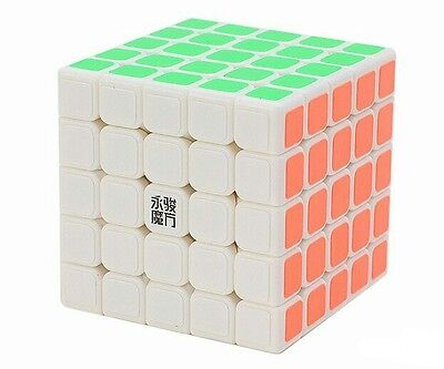 YJ  YuChuang 5 x 5 x 5  Puzzle Speed Cube -  White - Brand New & Boxed