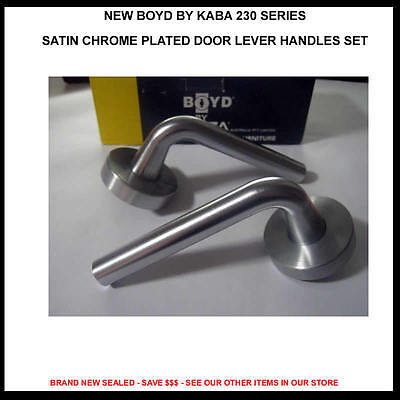 New Boyde By Kaba 230 Series Satin Chrome Plated Door Lever Mortice Handle Set