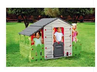 NEW Chad Valley Farm House Kids Outdoor Play Houses Wendy House Garden Toys