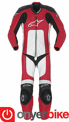 Alpinestars Octane One 1 Piece Motorcycle Motorbike Race Leather Suit Red SALE