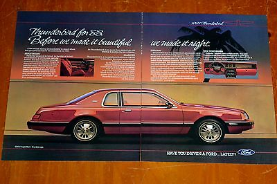 BEAUTIFUL 1983 FORD THUNDERBIRD AD - AMERICAN 80s VINTAGE RETRO T-BIRD