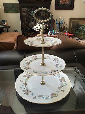 Beautiful Vintage Floral 3 Tier Serving Tray