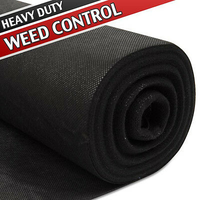 25m x 1m Heavy Duty Weed Control Guard Fabric Membrane